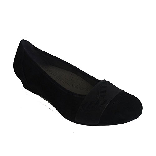Gabor Shoes Comfort Sport, Ballerine Donna Nero (Schwarz)