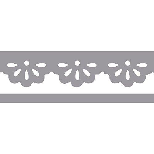 Rayher Hobby 89757000 Bordüren-Stanzer, Daisys- Motivgröße,4,5cm, geeignet für Papier/Karton bis zu 200g/m²