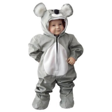 Waschbär Kleinkind Baby Kostüm - Koala-Bär Kostüm, J42 Gr. 86-92, für Klein-Kinder, Babies, Koala-Kostüme Koalas Kinder-Kostüme Fasching Karneval, Kinder-Karnevalskostüme, Kinder-Faschingskostüme, Geburtstags-Geschenk