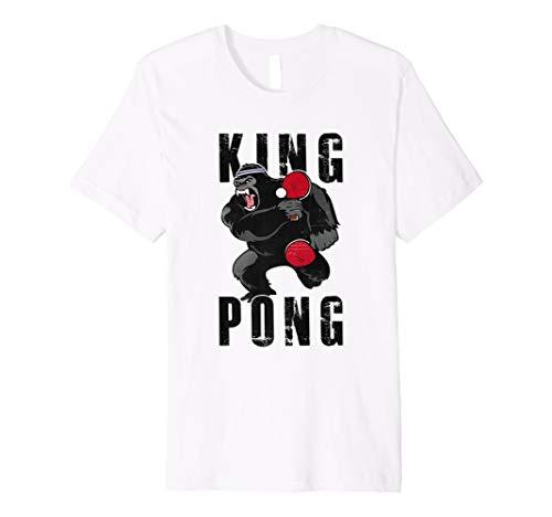 Vintage King Pong–Ping Pong Tischtennis T-Shirt