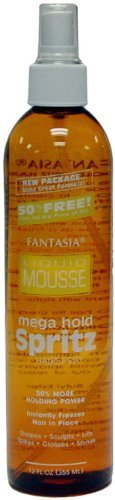 Fantasia Liquid Mousse Spritz Mega Hold 12 oz. (Pack of 2) by Fantasia