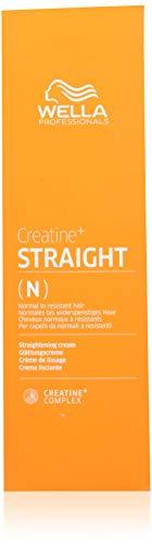 Wella Creatine Straight, Crema Lisciante, per capelli da normali a resistenti. 200 ml