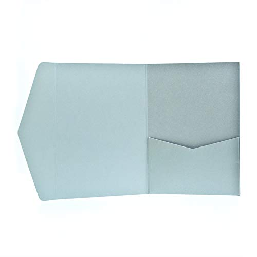 Pocketfold Karten A6 silber - Hochzeitskarten selber machen