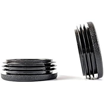 Bouchons ronds nervur/és en plastique noir de 35 mm de diam/ètre fabriqu/és en Allemagne.