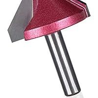 NO LOGO 1pc 8mm vástago V bit CNC Fresa de Metal Duro bits Router 3D for Madera 60 90 120 150 ° tungsteno carpintería Fresa (tamaño : 8 x 22 x 90 deg)