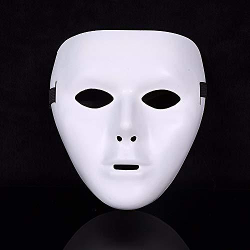 Dance Jabbawockeez Kostüm - VAWAA Weiße Gesicht Masken Halloween Party Maskerade Hip-hop Ghost Dance Kostüm Kostüm Maske