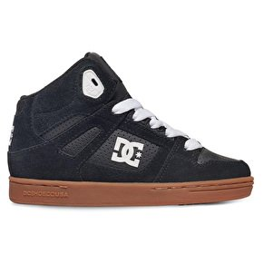 DC Shoes Rebound - High-Top Shoes - Hi Tops - Jungen - EU 37 - Schwarz (Jungen Top High Urban)