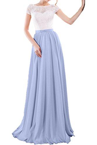 Promgirl House Damen Stilvoll Spitze A-Linie Abendkleider Ballkleider Cocktailkleider Party Lang mit Aermel Lavendel