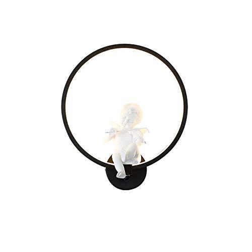 Scheda dettagliata CCDZ Angelo Violino Circolare LED A Muro Lampada Acrilica Soggiorno Camera da Letto Balcone Portone Corridoio Ristorante Cartone Animato