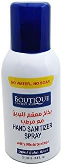 BOUTIQUE Hand Spray Sanitizer Anti Bacterial (100ML), Spray with Moisturizer by MINI SPECTRA
