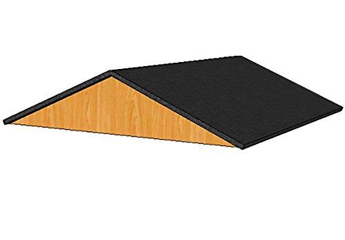 Toit amovible 100x100 cm pour enclos Poules shingle noir