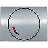 Niessen - 8460.2tt tapa+boton reg. giratorio olas titanio Ref. 6520535391