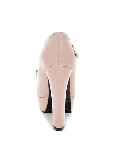 WSS 2016 Chaussures Femme-Bureau & Travail / Habillé / Soirée & Evénement-Noir / Rose / Beige-Gros Talon-Talons / A Plateau / Bout Arrondi-Talons- pink-us9 / eu40 / uk7 / cn41