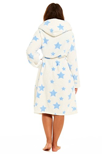 Get The Trend Damen Morgenmantel CREAM STARS