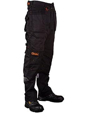 [Patrocinado]Pantalones de seguridad masculinos multi-bolsillo de gran resistencia y uso industrial con costuras triples reforzadas...