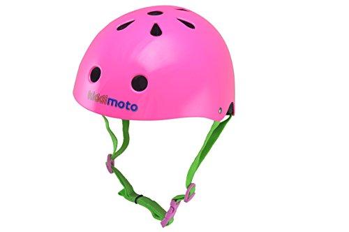 Kiddimoto KMH037M - Fahrrad Skater Helm für Kinder neon pink, Gr.M (5-14 Jahre)