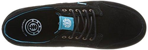 Element Topaz Suede, Chaussures de skateboard homme Noir (Black/Marine)