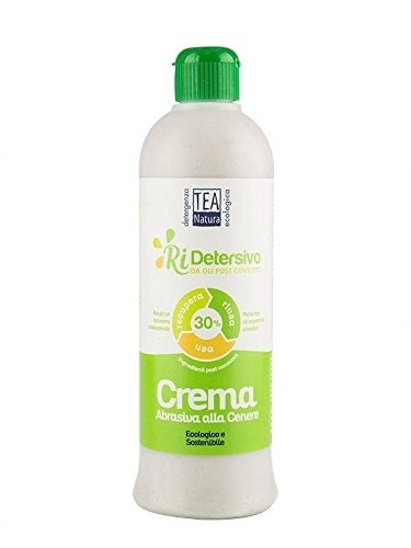 TEA NATURA Ri-Detersivo Crema Abrasiva alla Cenere - Da oli post consumo - Ottima resa - Sgrassa Delicatamente - Economico - 500 ml