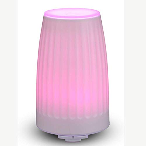 MMRLY Difusor de Aceite Esencial, Mini humidificador silencioso de 100 ml con luz Nocturna para el Dormitorio, Familia, Oficina, Yoga, SPA, Sala para bebés