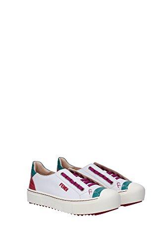8E49103RAF029E Fendi Sneakers Femme Cuir Blanc Blanc