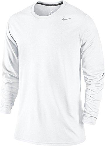 Nike Herren Langarmshirt, Einfarbig Weiß Weiß