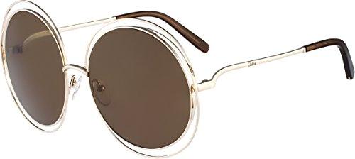 chloe-ce114s-743-ladies-carlina-gold-transparent-brown-ce114s-sunglasses