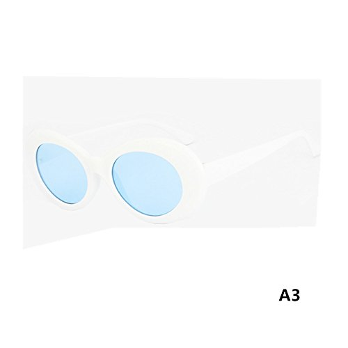 Frauen 'S CLASSIC VINTAGE Sonnenbrille, Fashion Retro Eyewear Brille UV-Schutz Full Bordüre Circular Rahmen Eye Spiegel Gläser A3 As Picture...
