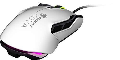 Roccat Kova AIMO Ambidextrous RGB Gaming Maus (7.000 Dpi Pro-Optic 6 Sensor, rechts-/Linkshänder, 12 programmierbare Maustasten, Designt in Deutschland) Weiß
