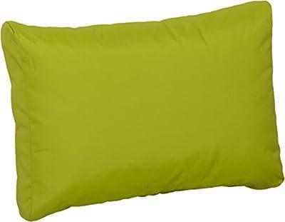 Premium Lounge Rückenkissen Palettenkissen in hellgrün ca. 60 x 40 cm aus 100% Polyester wasserabweisend von Gartenstuhl-Kissen - Gartenmöbel von Du und Dein Garten