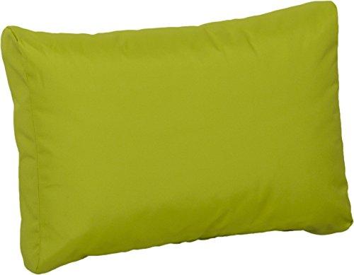Gartenstuhl-Kissen Premium Lounge Rückenkissen Palettenkissen in hellgrün ca. 60 x 40 cm aus 100% Polyester wasserabweisend