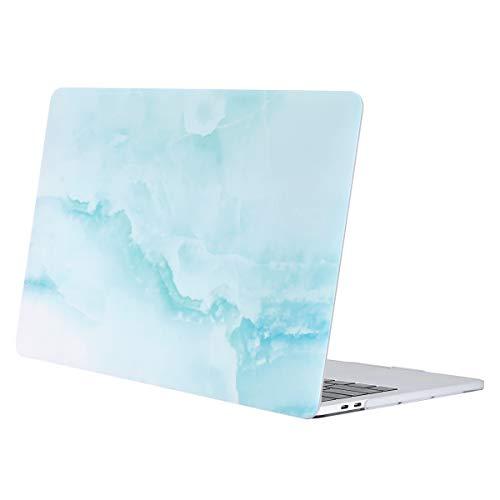 MOSISO Hülle Kompatibel mit MacBook Pro 13 2019 2018 2017 2016 Freisetzung A2159/A1989/A1706/A1708 - Plastik Muster Hartschale Kompatibel mit MacBook Pro 13 Zoll, Heiß Blau Wolke Marmor