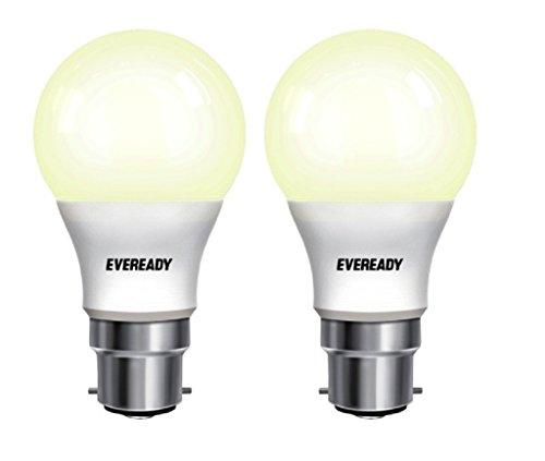 Eveready Base B22 12-Watt LED Bulb (Pack of 2, Warm White Light)