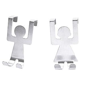 Wencaimd Dibujos Animados humanoide Hooks Colgador Gancho de Toallas Perchero de Pared Ganchos de Puerta Gancho Acero…