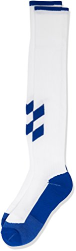 Fundamental Football Socks, White/Blue, 8 ( 32 - 35 ), 22-137-9109 (Weiß Fußball Socken Für Kinder)