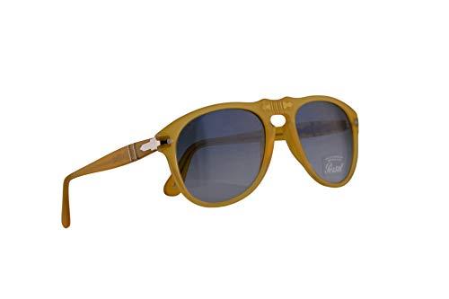Persol 649 Sunglasses Miele w/Blue Gradient Lens 54mm 204Q8 PO 0649 PO0649 PO649