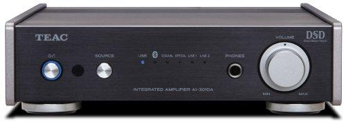 Teac AI-301DA(B) Vollverstärker (40 W/Kanal, Bluetooth, USB-Eingang, D/A-Wandler, Wiedergabe von DSD-Dateien, kompaktes Vollmetallgehäuse für exzellente Vibrationsbeständigkeit), Schwarz