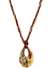 Venetiaurum - Collana da donna in vetro originale di Murano e argento 925 - Gioiello made in Italy certificato