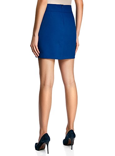 oodji Ultra Donna Gonna Basic Corta Blu (7500N)