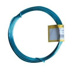 Alambre de aluminio - 5 metros de rollo de alambre, 25 gramos - color azul