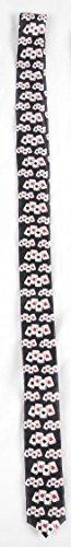 schwarze schmale Krawatte, Karten - Queen of (Kostüm Karte Queen)