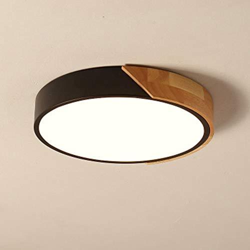 SXFYWYM LED Ceiling Light Acryl-Material Moderne minimalistische Ultra-Thin-Runde Kronleuchter für Schlafzimmer Wohnzimmer-Korridor Beleuchtung verwendet,Black,Threecolorlight50cm