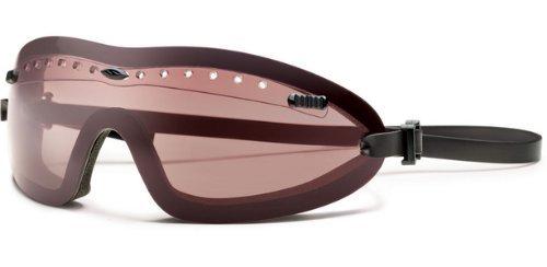 Smith Optics Erwachsene Brille Boogie Regulator taktische Schutzbrille mit klaren Linsen und niedrigem Profil schwarz