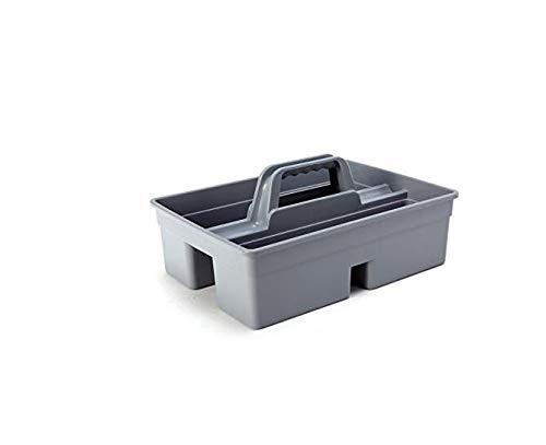 Huertuer Küche Tidy Organizer Reinigung Caddy Tote Tablett großen Starke Reinigungsmittel Carry Tablett Korb (grau) Große Caddy