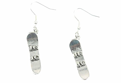 Snowboard earrings Board Miniblings winter sports snowboarding winter snow silver