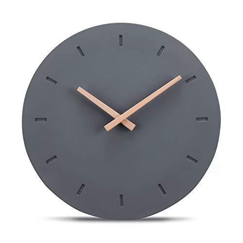 Cander Berlin MNU 6130 Designer Wanduhr aus Beton mit lautlosem Uhrwerk - 30,5 cm Ø - kein nerviges Ticken -