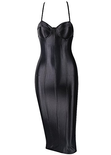 Missord - Robe - Cocktail - Sans Manche - Femme Noir