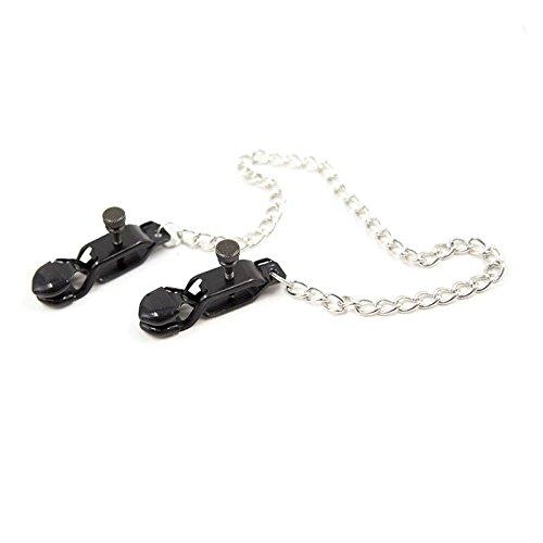 Loveusexy Pezón pinzas en los pezones ajustable Pinzas Vagi-nales con cadena de metal