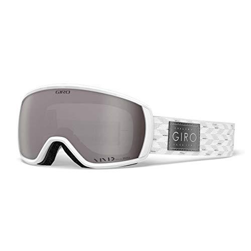 Giro Damen Facet Skibrille, White Silver Shimmer, M