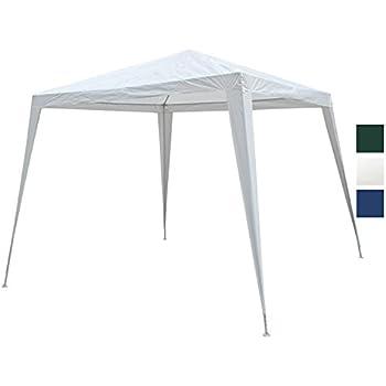 Pavilion Pavillon Metall 3x3x2,4m blau//weiß PE Gartenpavillon Festzelt Zelt
