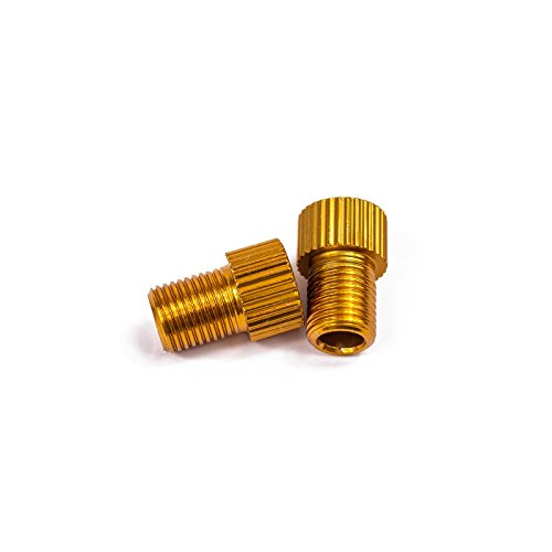 Fahrrad Ventil Adapter (gold, 2 Adapter)
